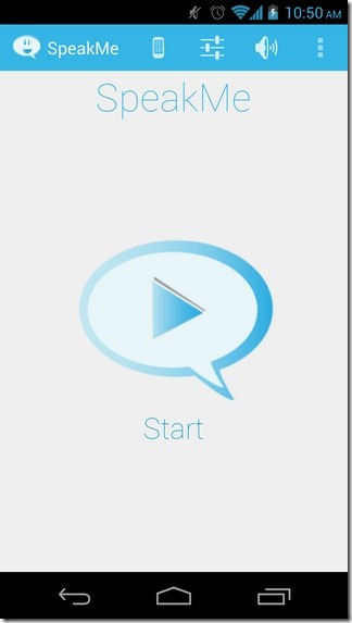 SpeakMe-Android-Home