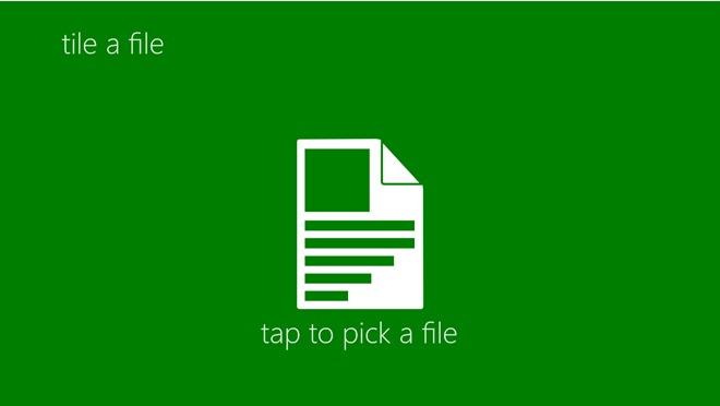 Tap A File