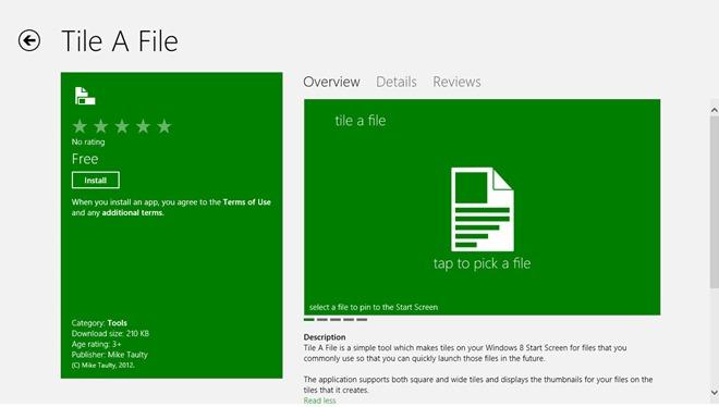 Tap A File_Windows Store