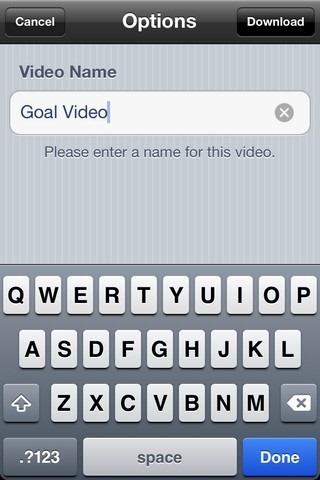 Universal Video Downloader iOS Name