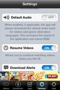 Universal Video Downloader iOS Settings