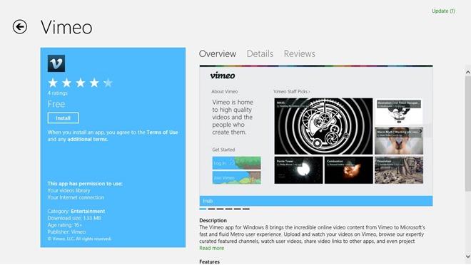 Vimeo_Windows Store