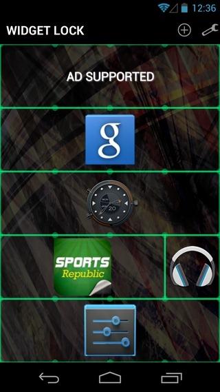 Widget-Lock-Android-Configure