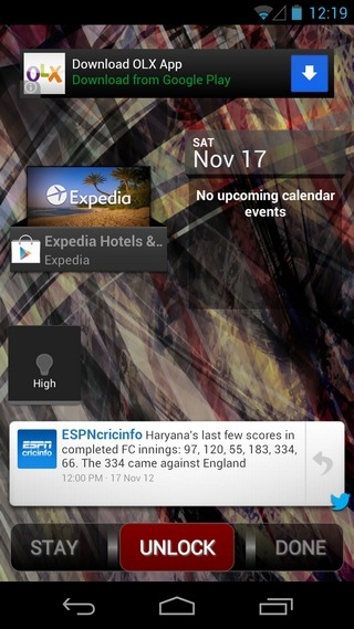 Widget-Lock-Android-Sample1