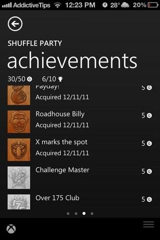 Xbox SmartGlass iOS Achievements