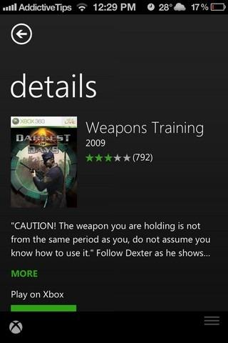 Xbox SmartGlass iOS Game