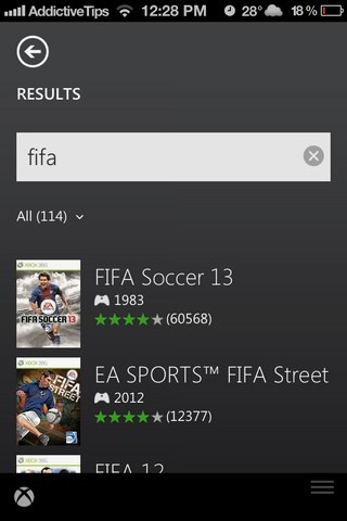 Xbox SmartGlass iOS Search