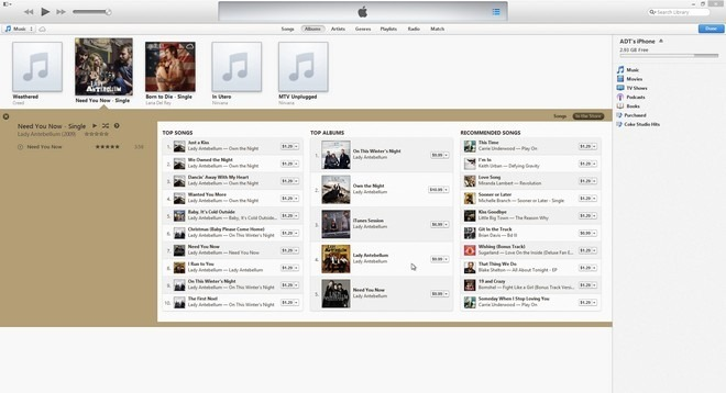 iTunes 11 Expanded View