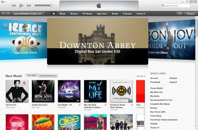 iTunes 11 Home