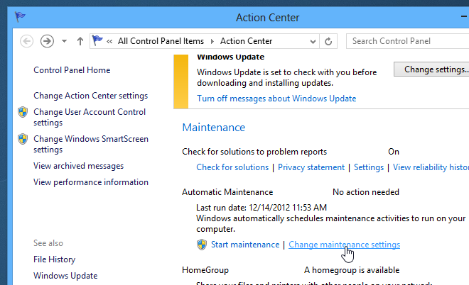 Change or disable Regular or Automatic Maintenance in Windows 8_Step_2