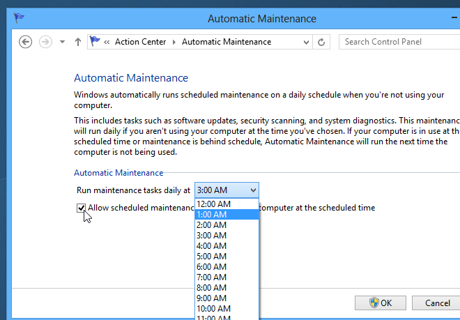 Change or disable Regular or Automatic Maintenance in Windows 8_Step_3