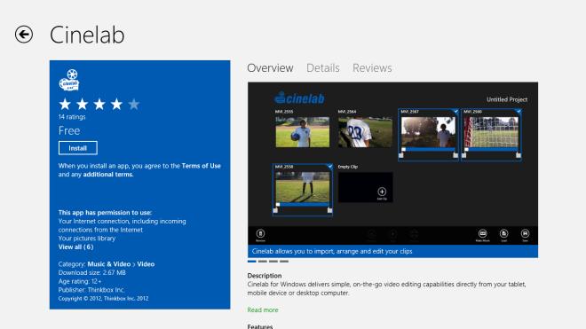 Cinelab_Windows Store
