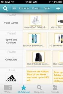 Clutch Shopping iOS List