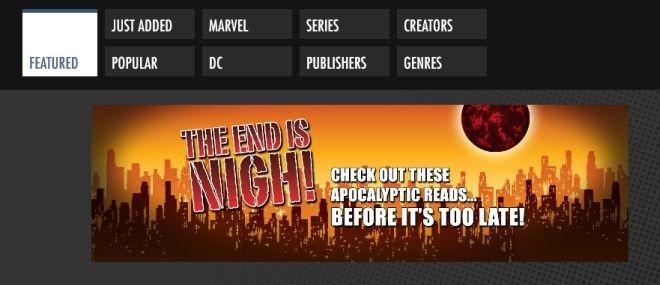 Comics App bar