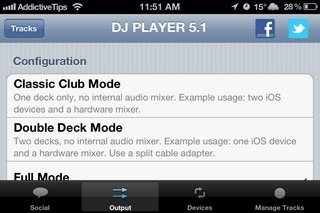DJ Player iPhone Settings