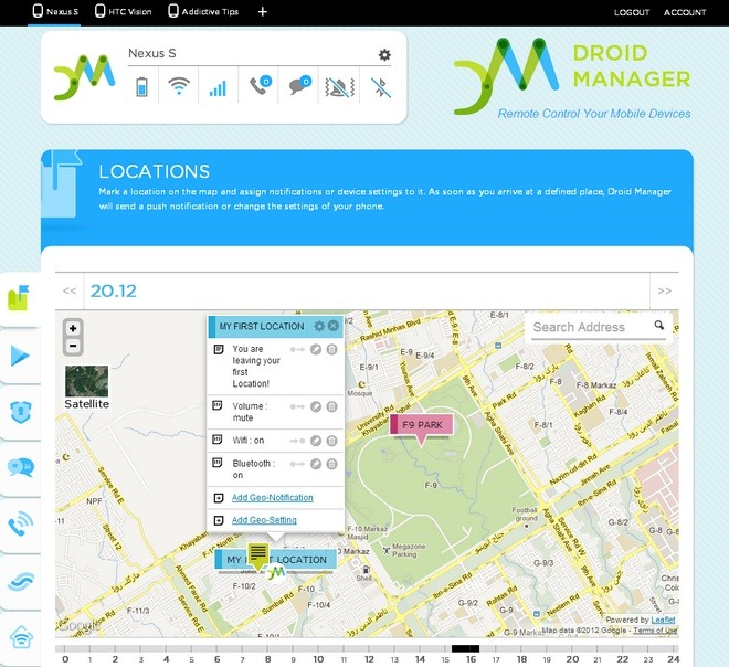 Droid-Manager-Android-Web-Location