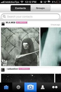 Flickr iOS Contacts