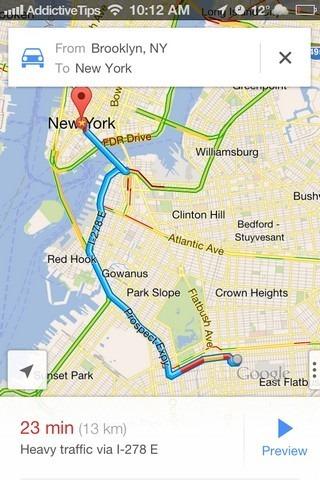 Google Maps iOS 6 Directions