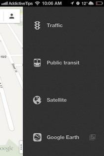 Google Maps iOS 6 Menu