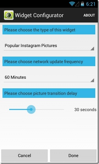 GramWidget-Android-Configure