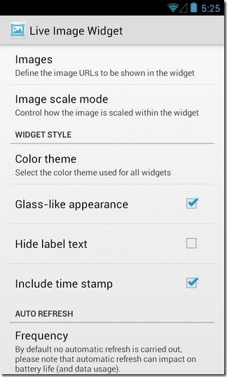 Live-Image-Widget-Android-Configure