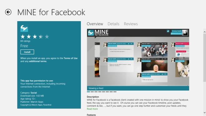MINE For Facebook_Windows Store