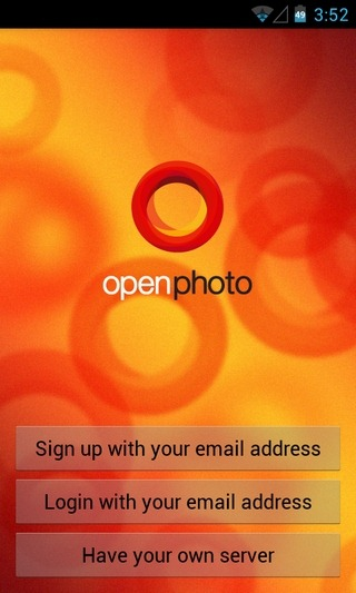 OpenPhoto-Android-Login