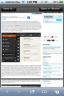 PDF Printer for Safari Open