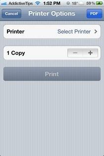PDF Printer for Safari Option