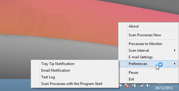 Process Notifier