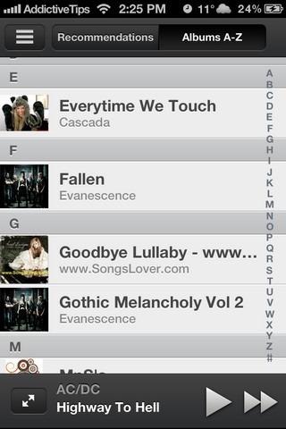Scrobbler iOS Albums