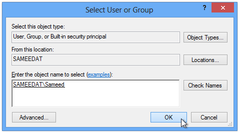 Select User or Group (2)
