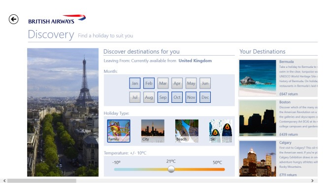 The British Airways Inspiration App_Discovery