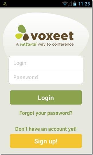 Voxeet-Android-iOS-Login