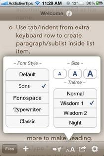Wisdom iOS Format