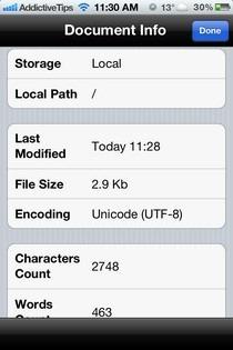 Wisdom iOS Info