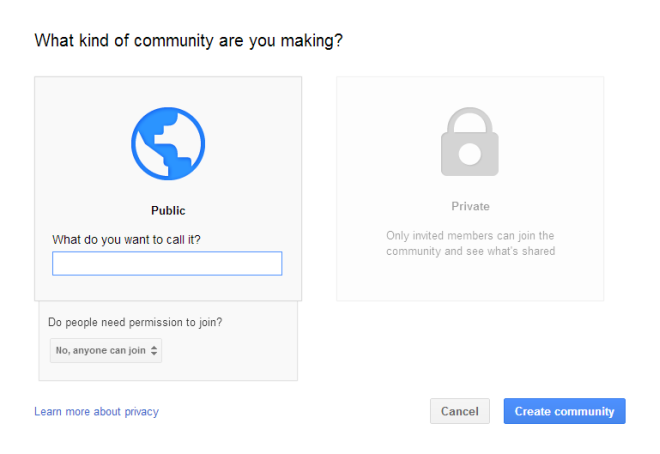 create google community