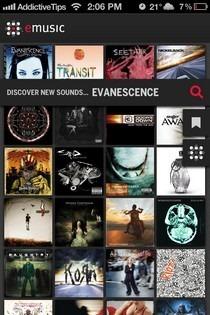 eMusic Infinite Explorations iOS Search