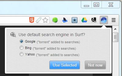 BitTorrent Surf search engine