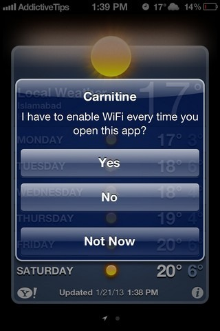Carnitine iOS App