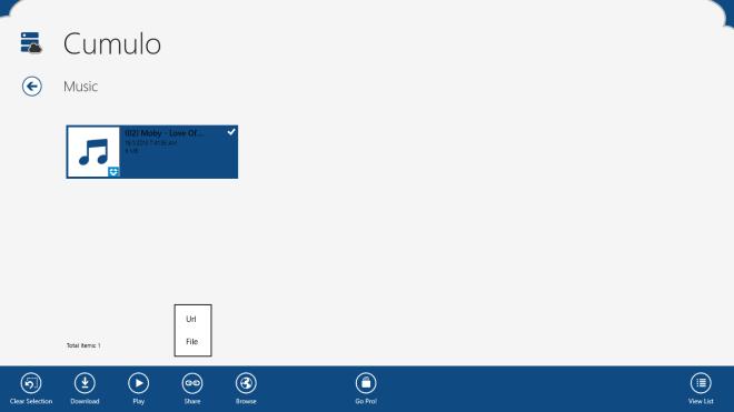 Cumulo Windows 8_App Bar