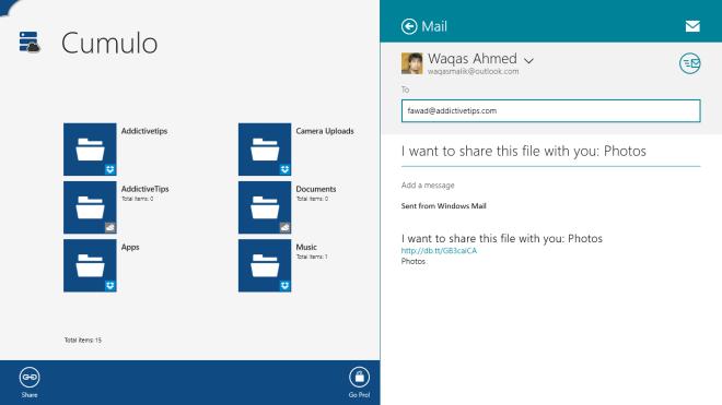 Cumulo Windows 8_Share Folder