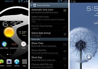 Customizable-status-bar-clock-AOSP-lock-screen-SGS3
