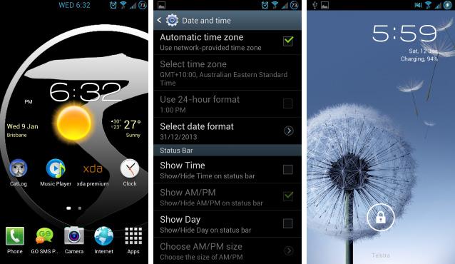 Customizable-status-bar-clock-and-AOSP-lock-screen-SGS3