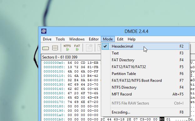DMDE_Modes