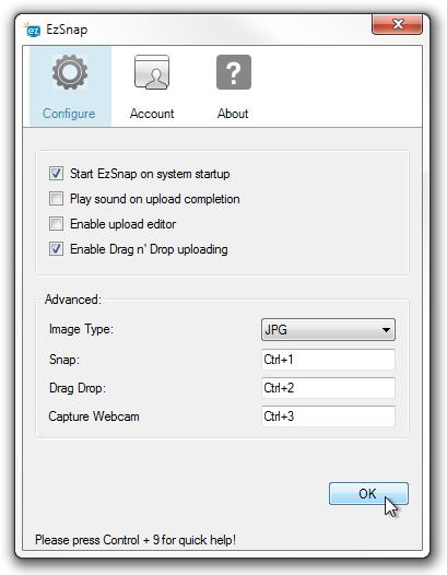 EzSnap Configure