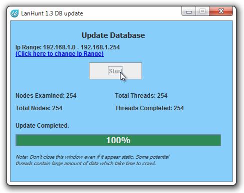 LanHunt 1.3 DB update
