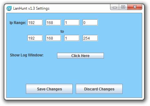 LanHunt v1.3 Settings