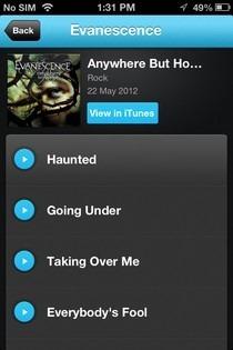 Listn iOS Tracks