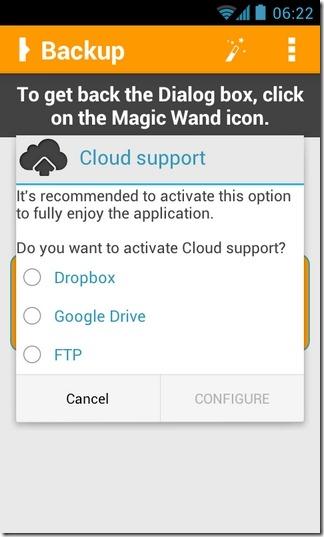 Orange-Backup-Android-Cloud